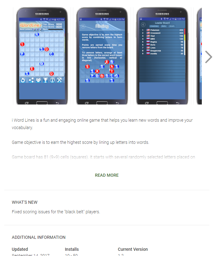 Download New FREE Android i Word Lines Puzzle Game App version 1.2