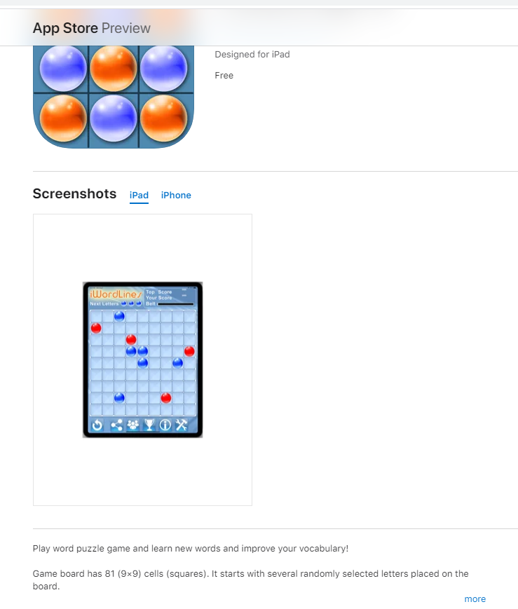 i Word Lines Puzzle Game - iPhone iPad App